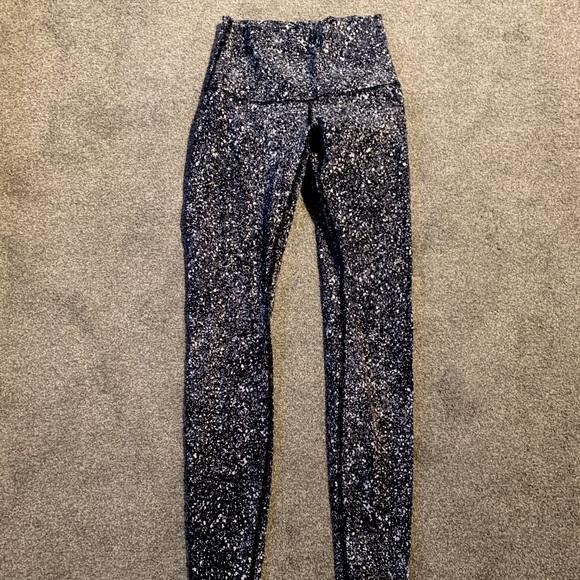 Lululemon splatter leggings size 4